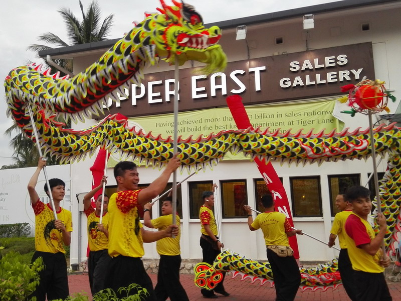4. auspicious dragon dance at Upper East @ Tiger Lane Sales Gallery