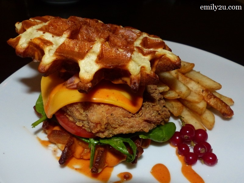 9. Rasta waffle sandwich - super new on the menu