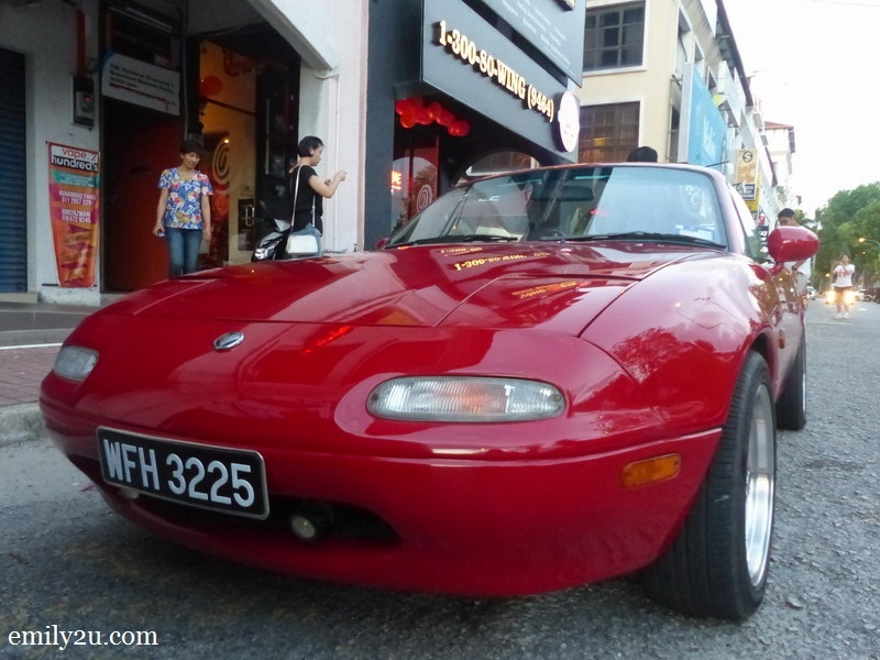 10. red roadster - Mazda Miata MX5