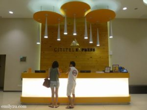 1. reception counter of Cititel Express Ipoh