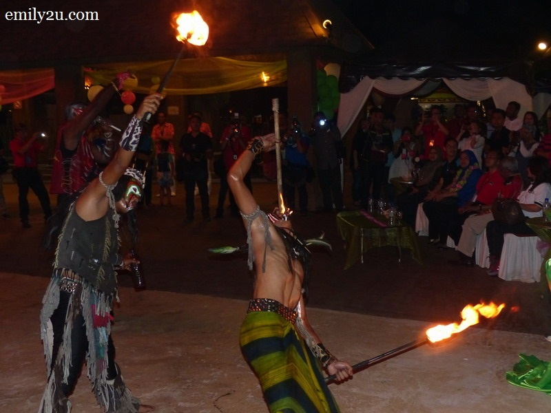 1. fire-eating as part of the performance by The Lost World Flaming Percussions