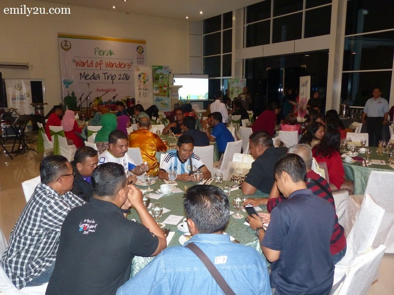 11. the dinner is hosted by The Haven Resort Hotel & Residences