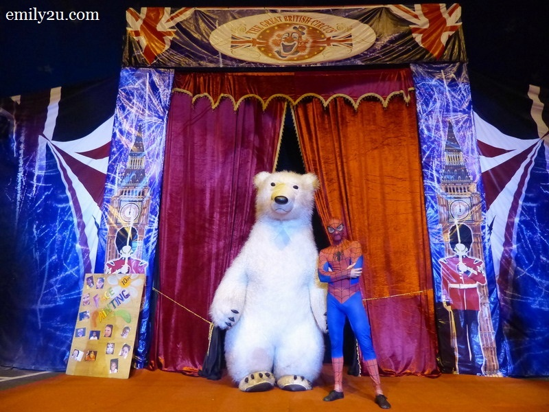 12. two highly entertaining acts: Misha the Polar Bear and Spiderman