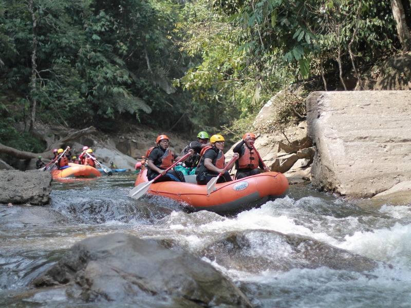 11. whitewater rafting along Sungai Kampar