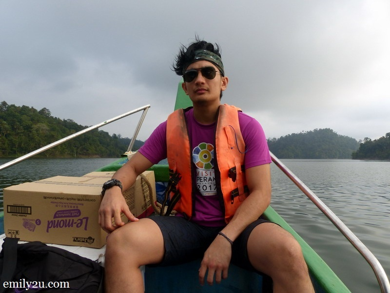 2. Furqaan on the speed boat ride to Royal Belum