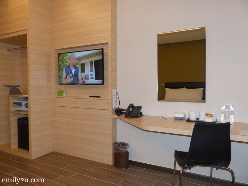 3. the workstation and TV panel of my Superior Room
