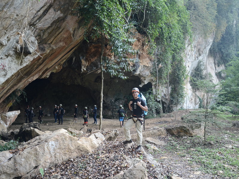 3. Edgar Alan Zeta-Yap poses at the mouth of the cave