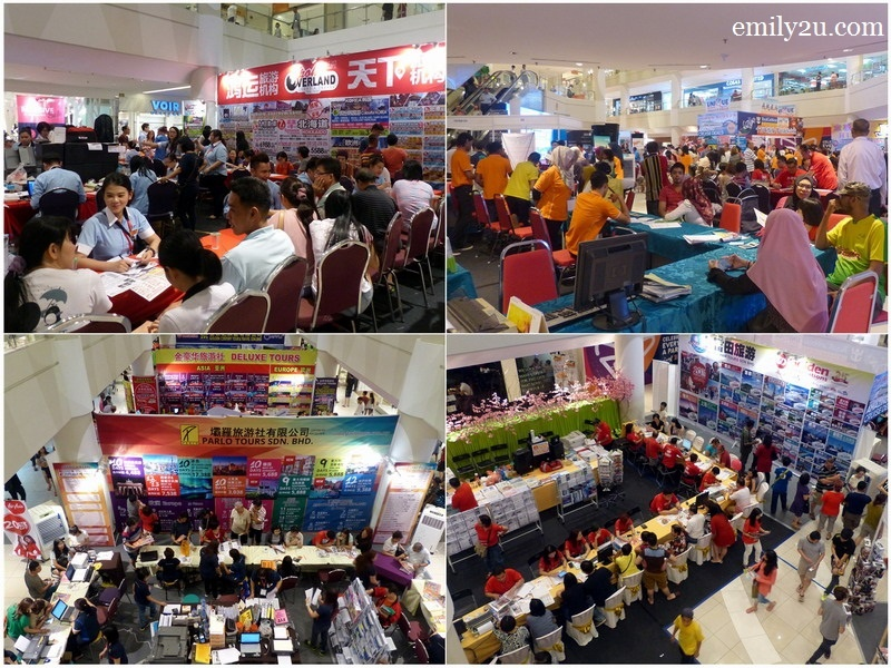6. the crowd on the first day of MATTA Fair Perak