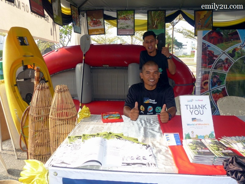 6. booth by Nomad Adventure with my guide Soleh (standing) and his colleague