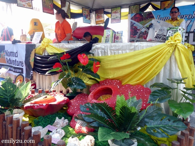 7. a booth to promote Royal Belum