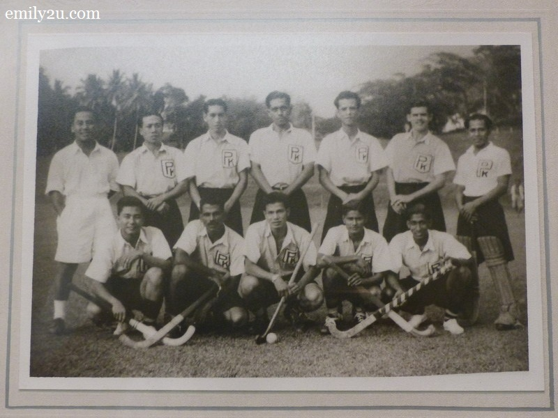 8. the 1949 Perak Hockey Team with HRH Sultan Azlan Shah squatting in the middle
