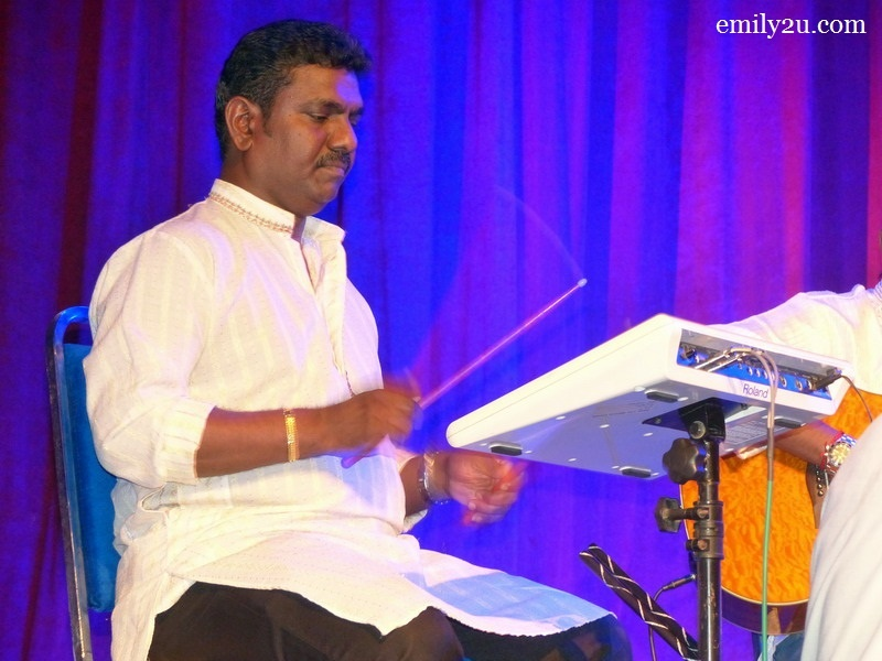 8. Rajah on percussion