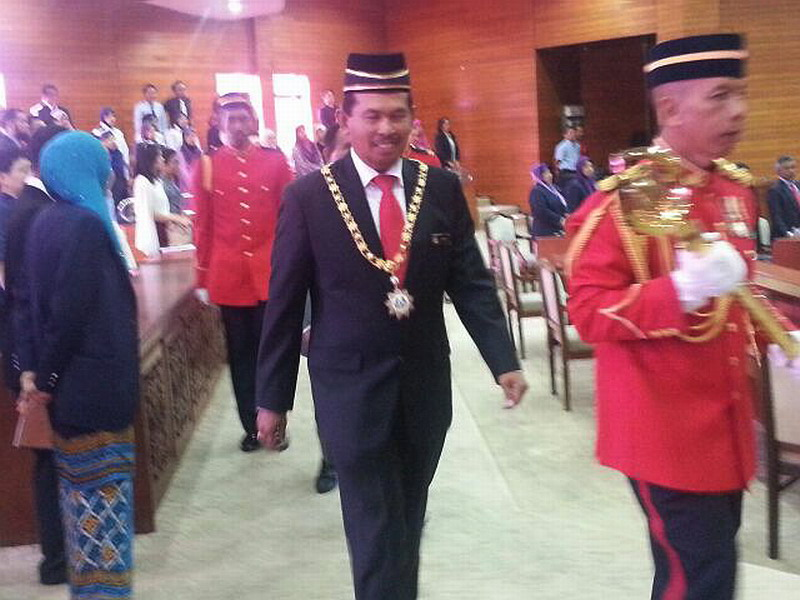 Ipoh City Mayor Dato' Zamri Man at the  swearing-in ceremony