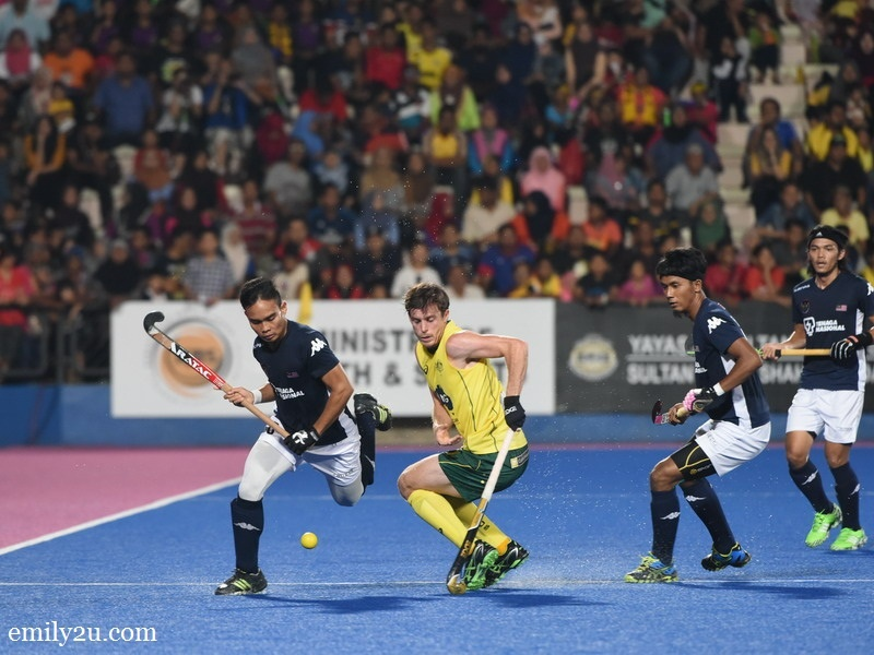 1. Australia (yellow/green) vs. Malaysia (black/white)