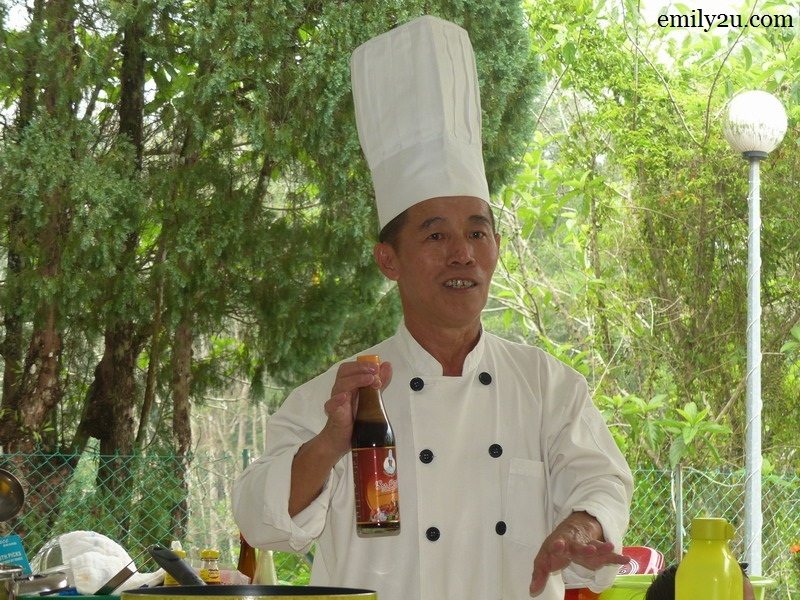 Chef Farhan Wong with his all-purpose seasoning
