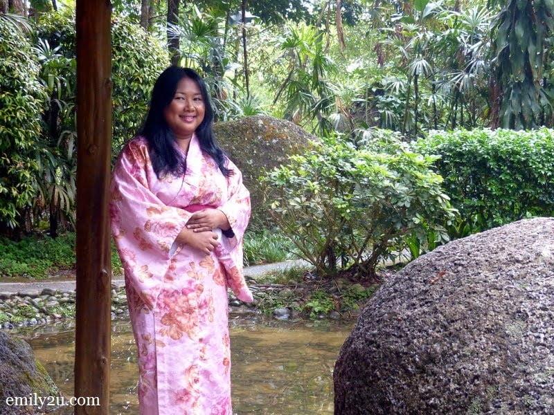 10. Marini strikes a pose in her pink kimono