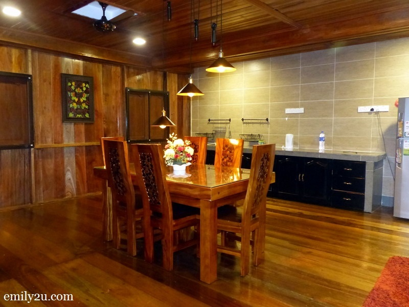 14. this premium chalet has a public dining area equipped with modern electrical appliances