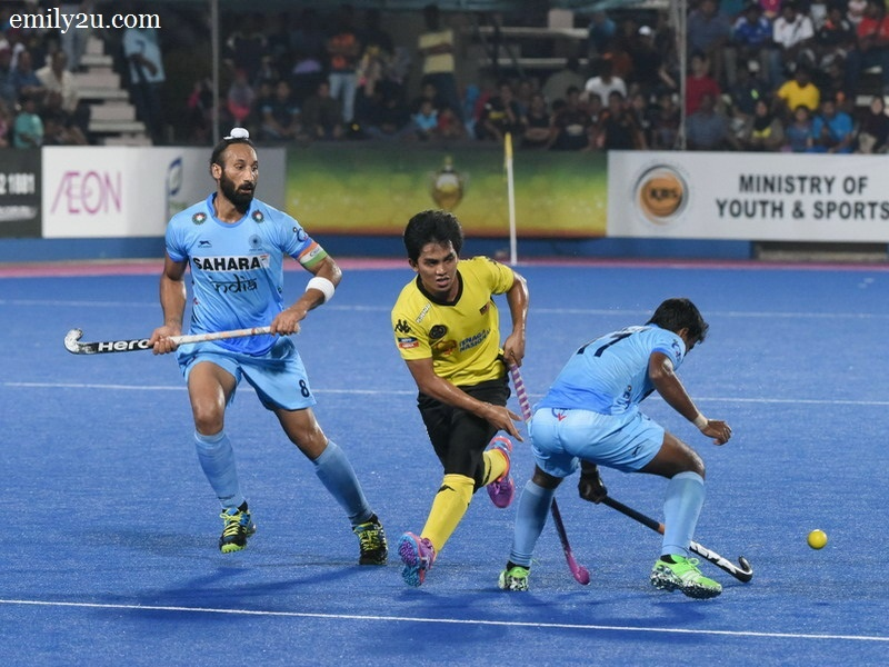 2. Malaysia (yellow / black) vs. India (blue)