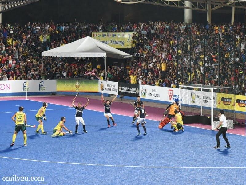 3. Malaysia score a goal