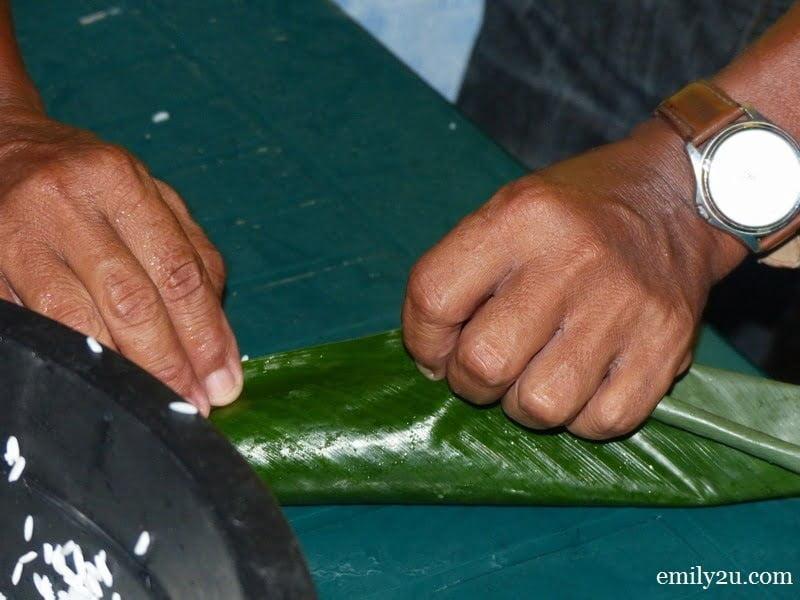 3. wrap the leaf