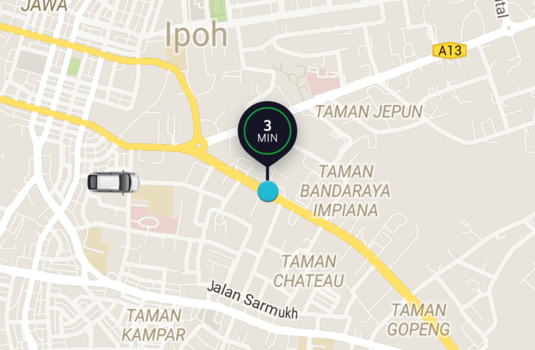Trying Out Uber in Ipoh