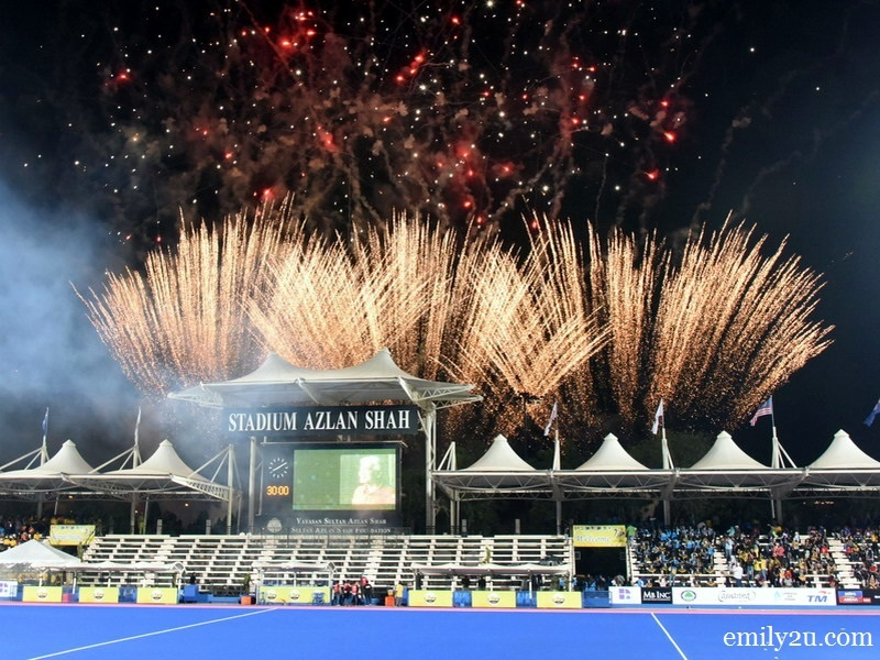 (file pic) a spectacular fireworks display kicked off the Silver Jubilee tournament in 2016