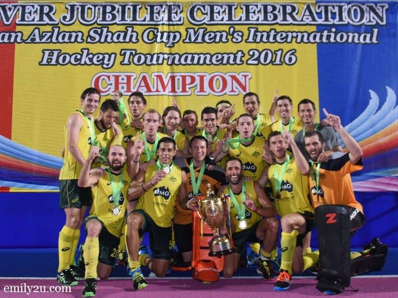 7. 9-time champions Kookaburras