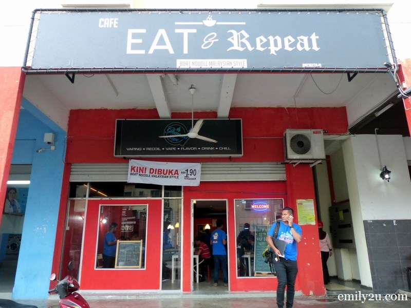 8. Eat & Repeat Café façade