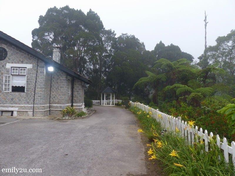 9. flower-lined garden