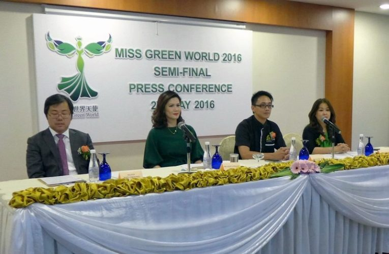 Press Conference: Miss Green World 2016 Semi-Final