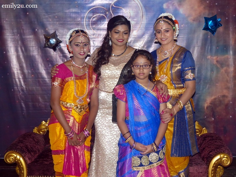 23. brainchild of the event, Maya Malar of MBG Events (in gold) takes a photo with her dancers