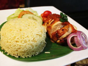 Nasi Jagung Ayam Percik Sauce