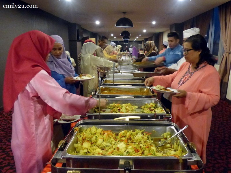 11. guests enjoying a scrumptious Ramadan buffet spread by Tower Regency Hotel, Ipoh