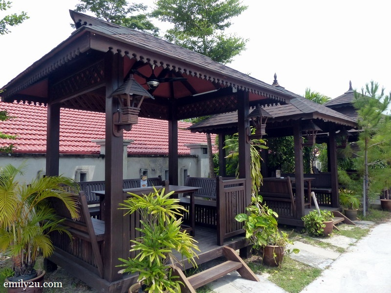 13. a couple of gazebos for families