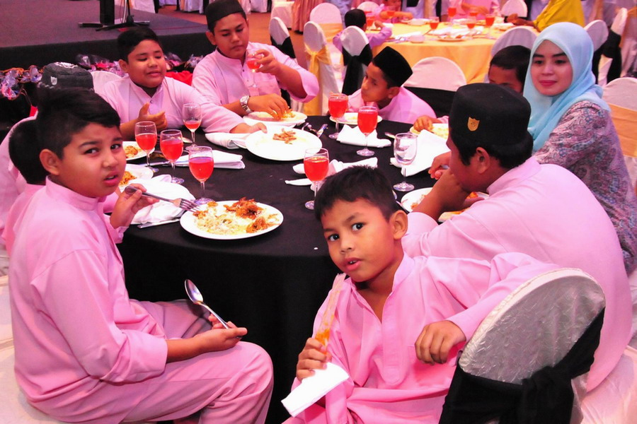 3. some of the kids enjoying their meal