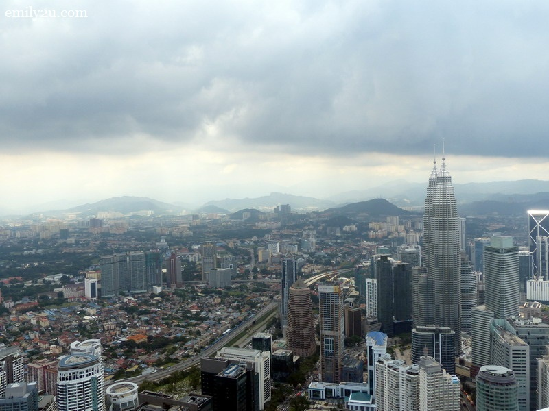 2. a view of Kuala Lumpur's cityscape from Atmosphere 360 revolving restaurant