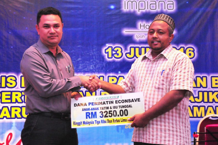 4. a cash donation of RM3250 from Econsave