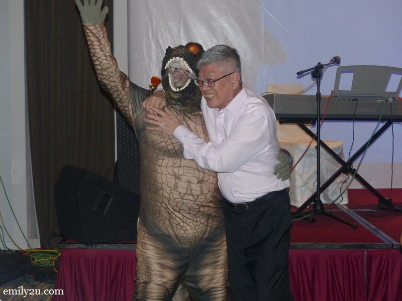 23. Mr. Peter Chan was saved by The Haven's Tyrannosaurus Rex