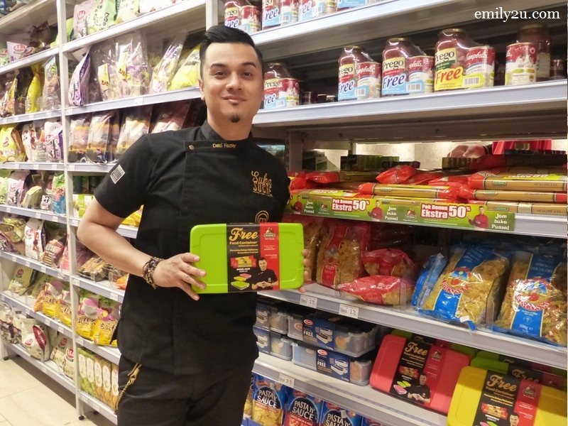 1. Dato' Fazley Yaakob poses with one of the products he endorses