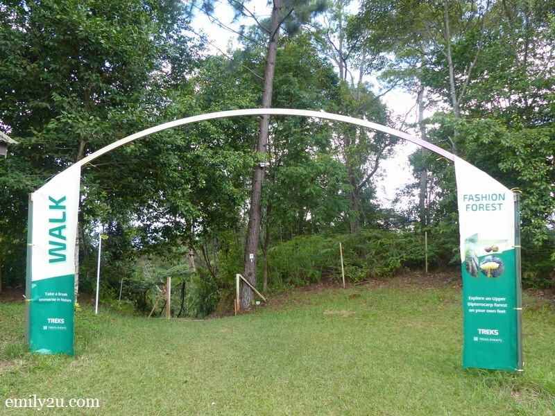 2. entrance to Fashion Forest, a short distance from the Awana Longhouse