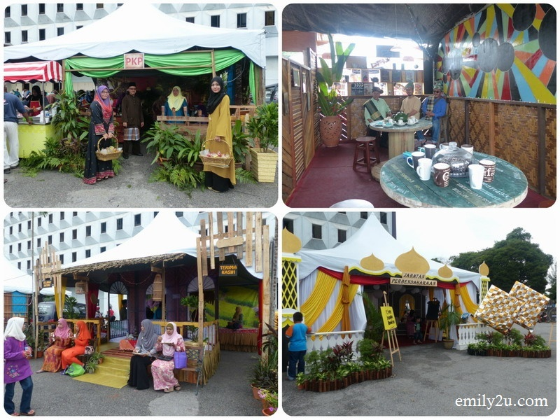 6. some of the decorated food booths by MBI departments