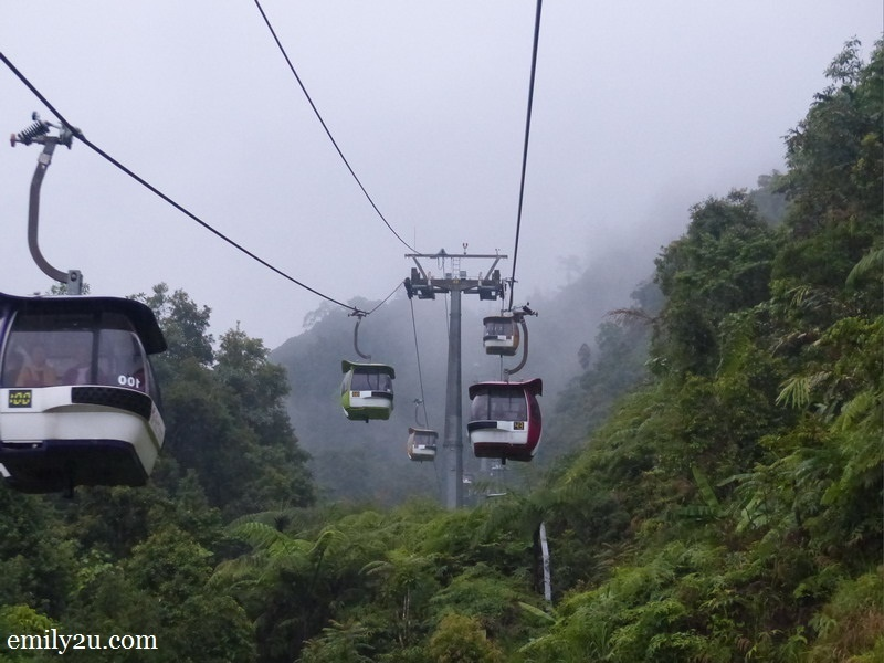 8. Skyway cable cars on the return trip