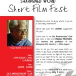 Announcement: Sharpened Word Short Film Fest (Aug 20)