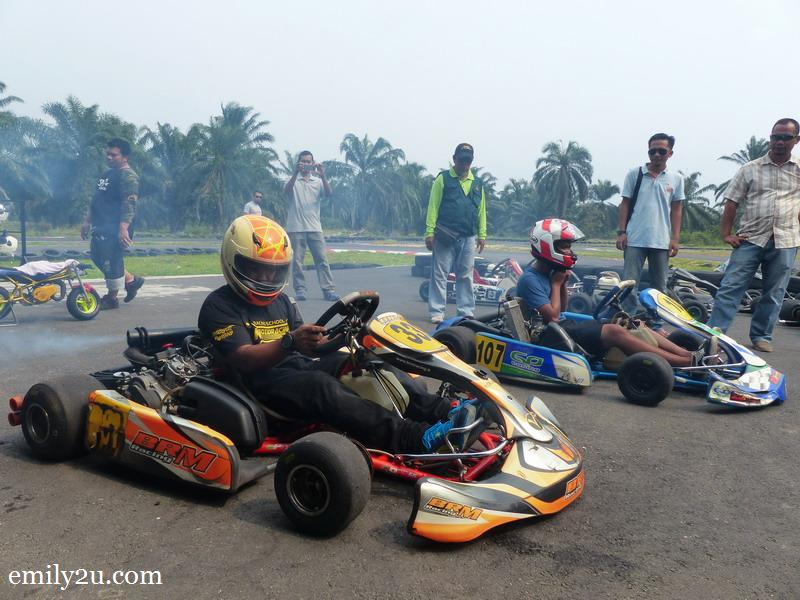 1. track owner, Mohd. Yazid bin Jamal, at the wheel