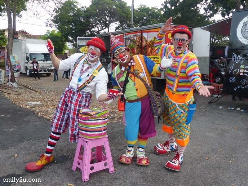 10. a trio of clowns