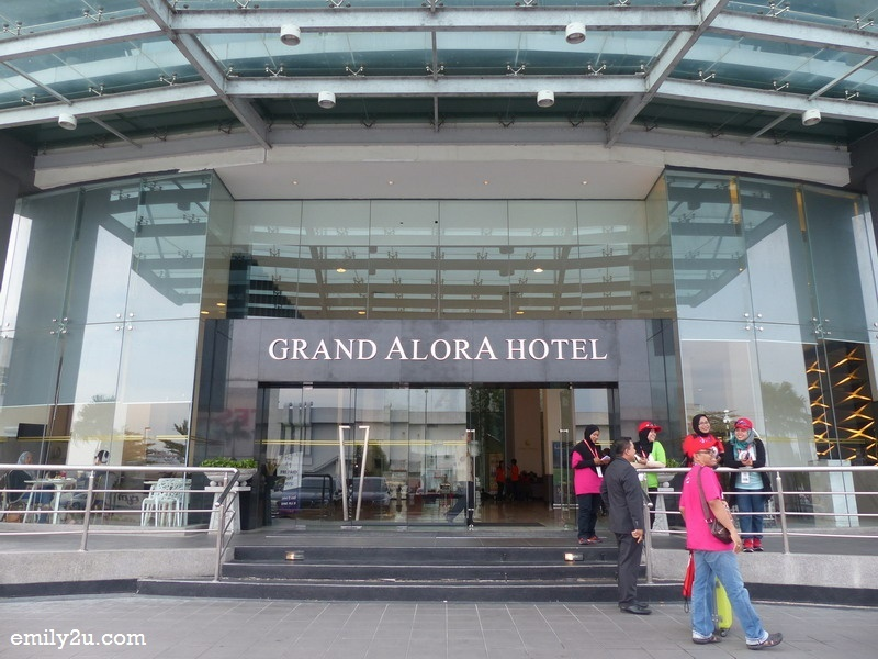 2. entrance of Grand Alora Hotel