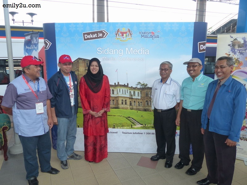 2. the train makes a stop at Ipoh's iconic railway station for the participants to continue with their first leg of the treasure hunt