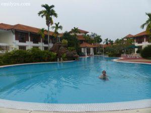 7. Iqmal enjoying the pool