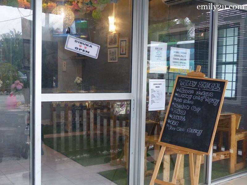 7. Ros Kerepek's café named Jowo Café