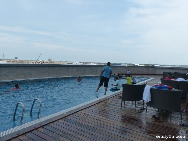 9. swimming pool on the third floor